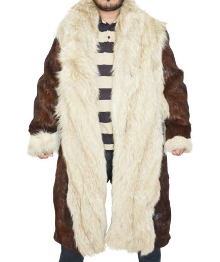 Vin Diesel Full Fur Shearling Beaver & White Alpacca Fur Coat Jacket